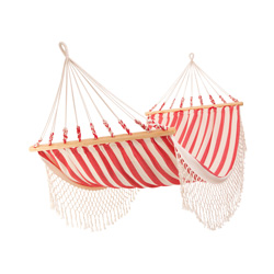 hammock cotton spreader bar marinera red fringe
